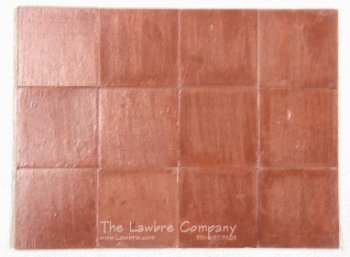 1023 - 3/4'' Square Flooring Tiles, Quarry Tile Rust