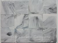1028 - 1'' Square Flooring Tiles - Black ''Marble'' (60 pcs.)