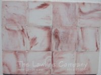 1029 - 1'' Square Flooring Tiles - Rose ''Marble'' (60 pcs.)