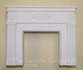 1050 - Federal Fireplace, White