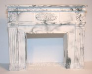 1051 - Federal Fireplace, Black Marbled