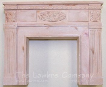 1052 - Federal Fireplace, Golden Cream Marbled