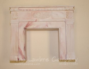 1054 - Federal Fireplace, Rose Marbled