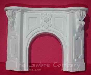 1056 - Victorian Fireplace, White