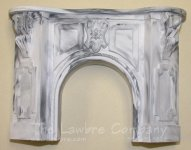 1057 - Victorian Fireplace, Black Marbled