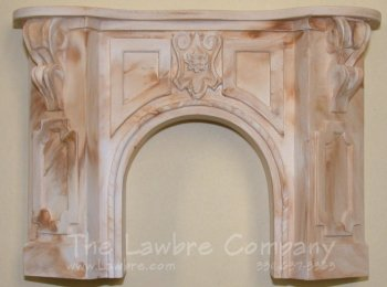 1058 - Victorian Fireplace, Golden Cream Marbled
