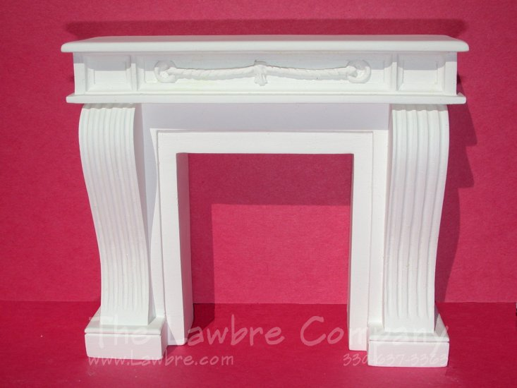 1066 - French Console Fireplace, White - Click Image to Close