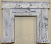 1067 - French Console Fireplace, Black Marbled