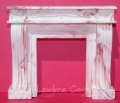 1068 - French Console Fireplace, Rose Marbled