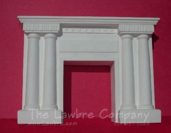1071 - Victorian Columned Fireplace, White