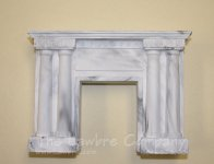 1072 - Victorian Columned Fireplace, Black Marbled