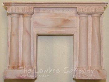 1073 - Victorian Columned Fireplace, Golden Cream Marbled