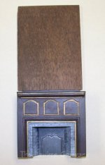 1077 - Salem Corner Fireplace, Wood Grain w/Beveled Wall Piece