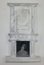 1095 - Twisted Column Fireplace, 2 Pc.