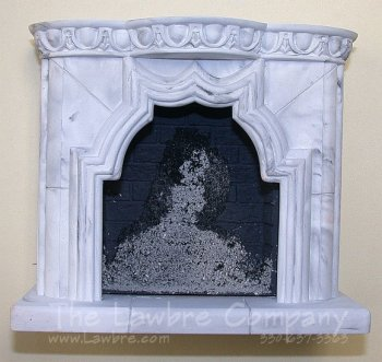 1098a - Framed Fireplace, Lower Mantle Only
