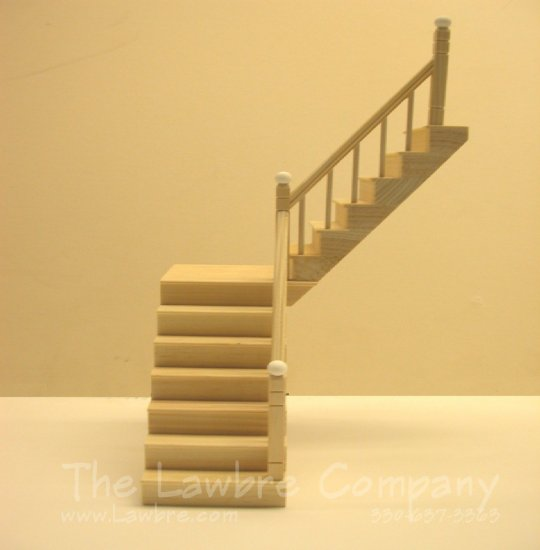 1111 - One-Landing Staircase, Smooth Spindle, Rail on Right Side - Click Image to Close