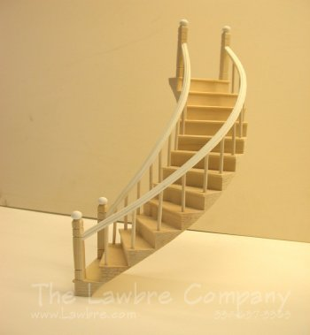 1127 - Curved Staircase, Smooth Spindle, 2 Rails, Left Curve