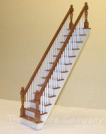 1152 - Cherry Staircase, Straight, 2 Rails