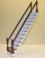 1153 - Mahogany Staircase, Straight, 2 Rails