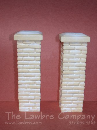 0455 - 4-5/8'' Brick Fence Posts, 2/pk., Unpainted