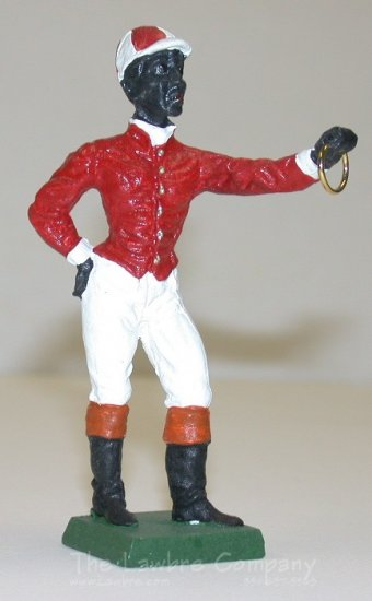 0601 - (C) Jockey Hitching Post - Black - Click Image to Close