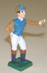 0602 - (C) Jockey Hitching Post - White