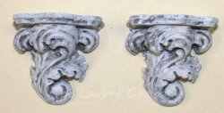 0611 - (C) Acanthus Leaf Shelf - Pair