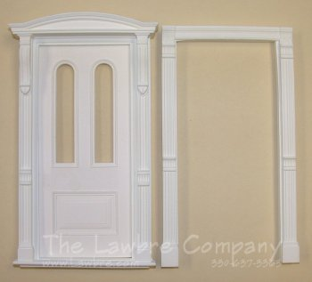 AE310 - Arched Panel Door w/Clear Glass