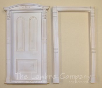 AE311 - Arched Panel Door w/Solid Panels