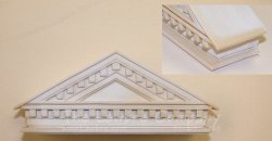 AE585 - Classic Pediment w/Dentil - Extra Deep