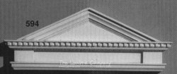 AE594 - Door Pediment w/Dentil