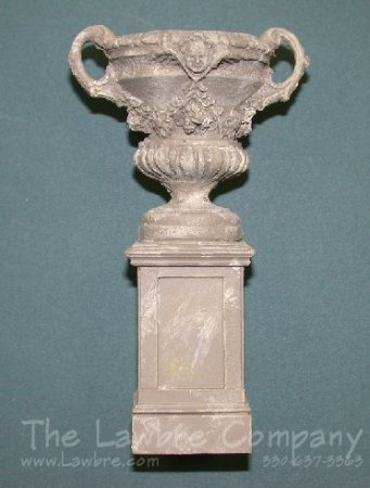 AE802a - (S) Small Pedestal w/Panels and Rococo Urn