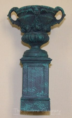 AE802 - (V) Small Pedestal w/Panels and Rococo Urn