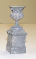 AE805 - (S) Small Pedestal & West Point Urn - Stone Finish