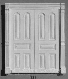 AE321 - Arched Panel Double Door